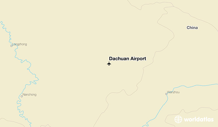 Dachuan Airport location on a map