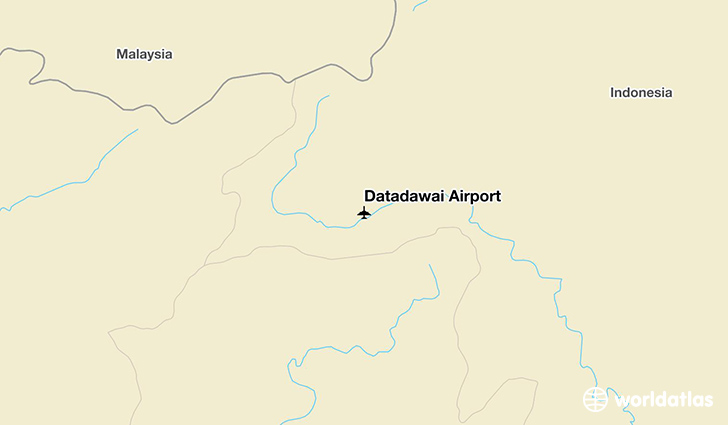 Datadawai Airport location on a map