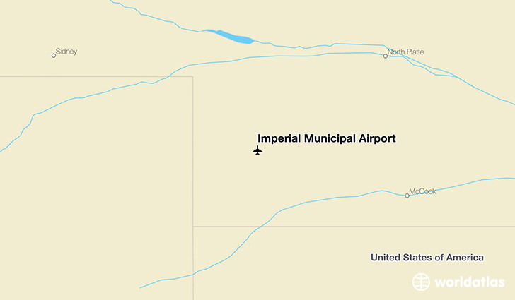 Imperial Municipal Airport location on a map