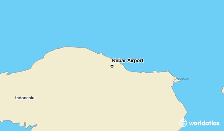 Kebar Airport location on a map