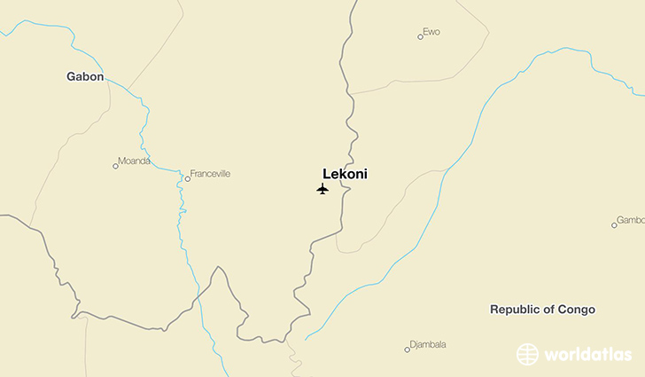 Lekoni location on a map