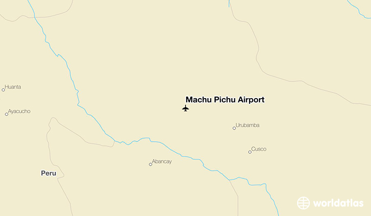 Machu Pichu Airport location on a map