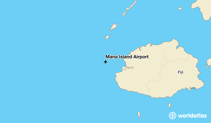 Mana Island Airport location on a map