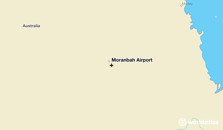 Moranbah Airport location on a map