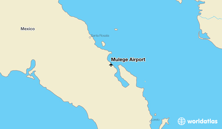 Mulege Airport location on a map