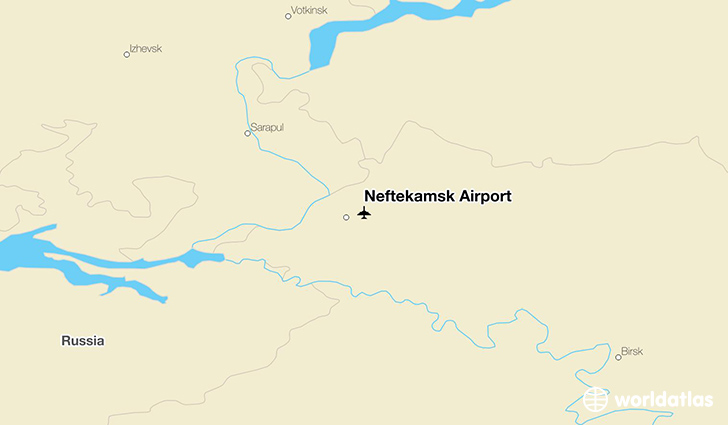 Neftekamsk Airport location on a map