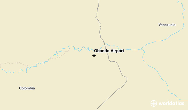 Obando Airport location on a map