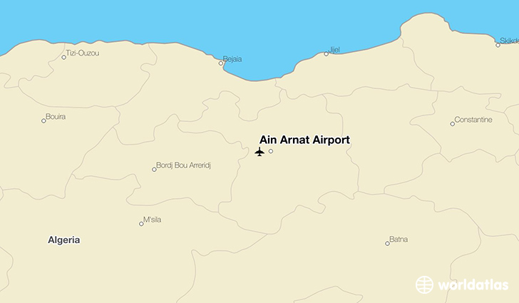 Ain Arnat Airport location on a map