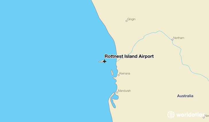Rottnest Island Airport location on a map