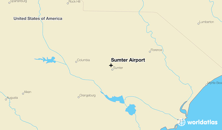 Sumter Airport location on a map
