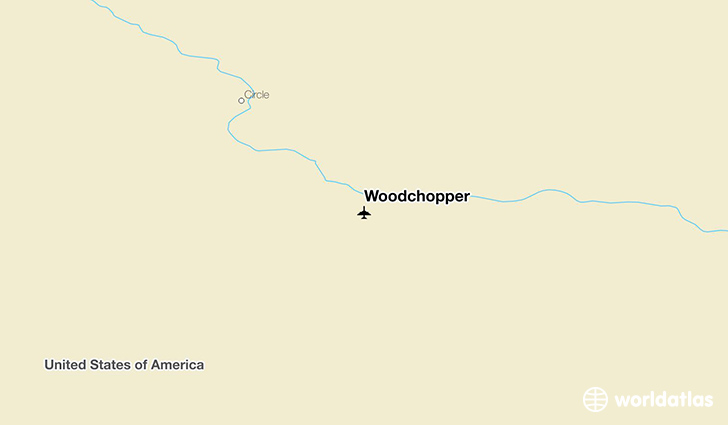 Woodchopper location on a map