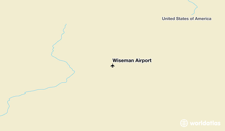 Wiseman Airport location on a map