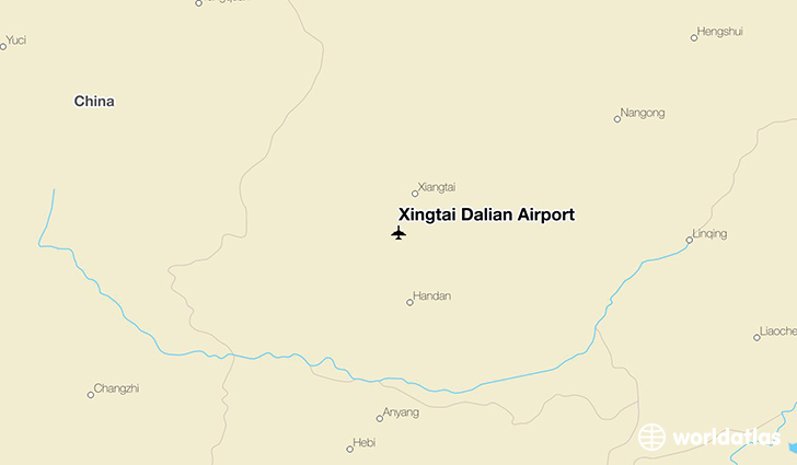 Xingtai Dalian Airport location on a map