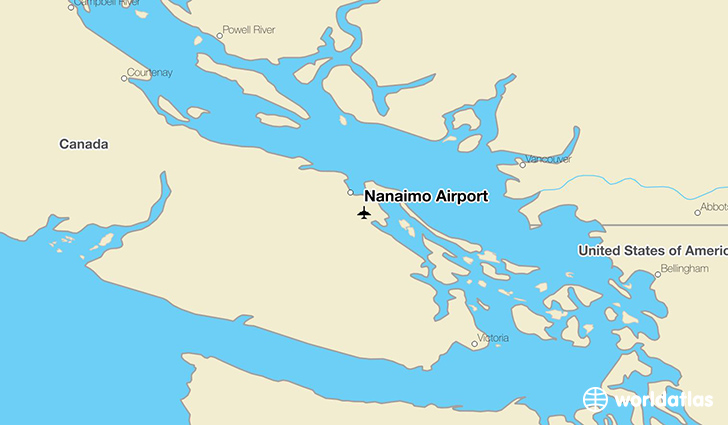 Nanaimo Airport location on a map