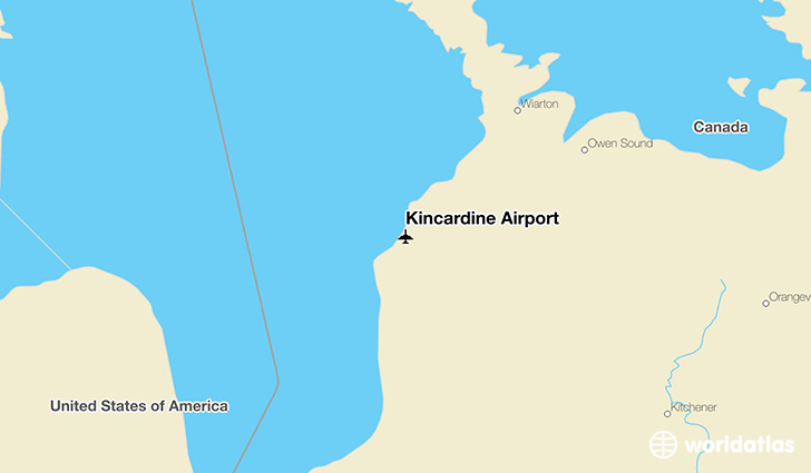 Kincardine Airport location on a map