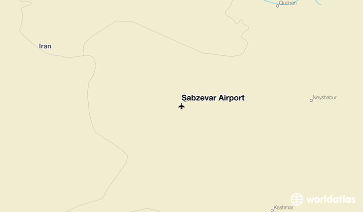 Sabzevar Airport location on a map
