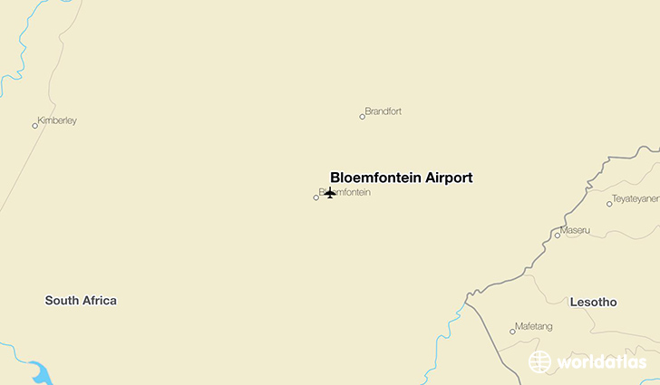 Bloemfontein Airport location on a map