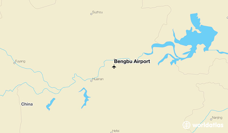 Bengbu Airport location on a map