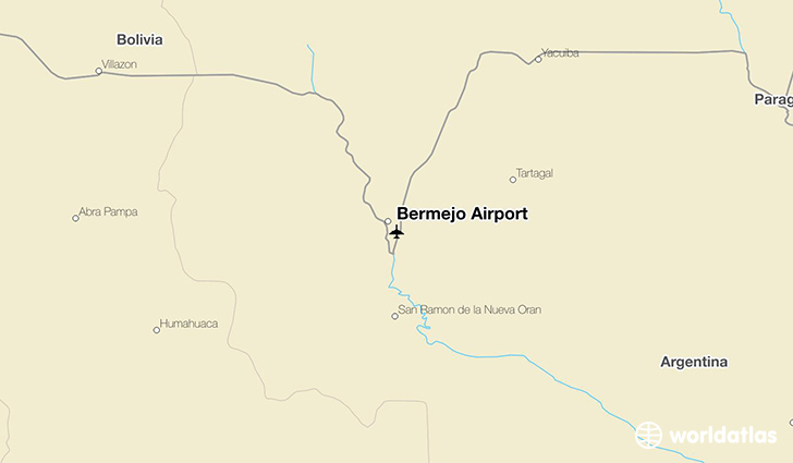 Bermejo Airport location on a map