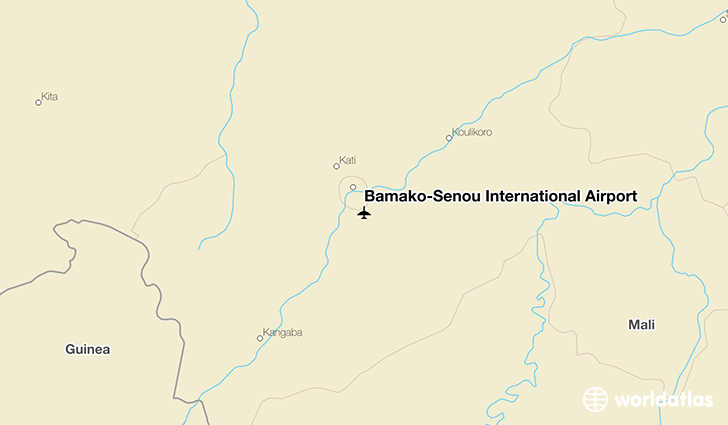 Bamako–Sénou International Airport location on a map