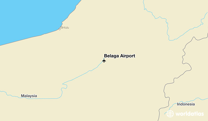 Belaga Airport location on a map