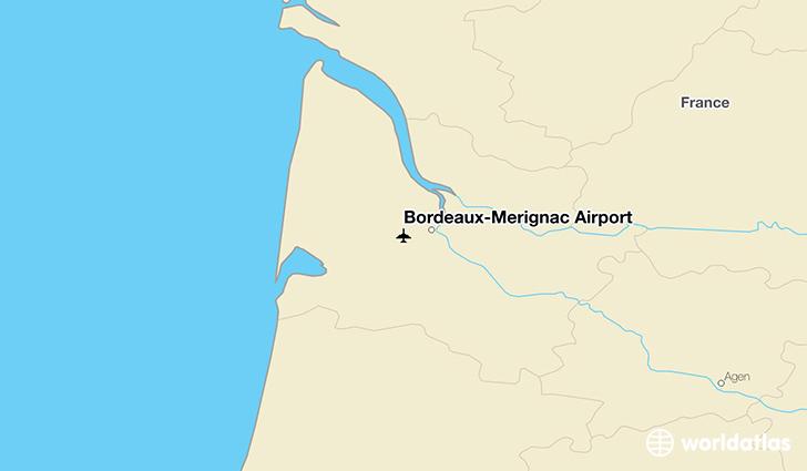Bordeaux m rignac airport bod worldatlas for Location a bordeaux