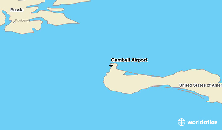 Gambell Airport location on a map