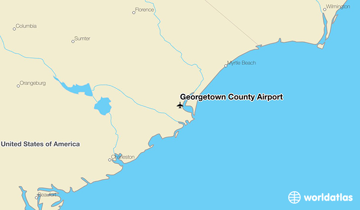 Georgetown County Airport location on a map