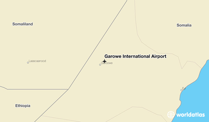 Garowe International Airport location on a map