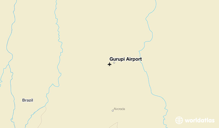 Gurupi Airport location on a map