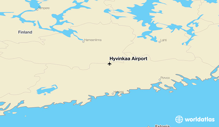 Hyvinkaa Airport location on a map