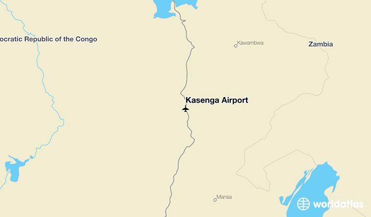 Kasenga Airport location on a map