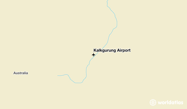 Kalkgurung Airport location on a map