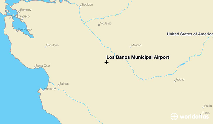 Los Banos Municipal Airport location on a map
