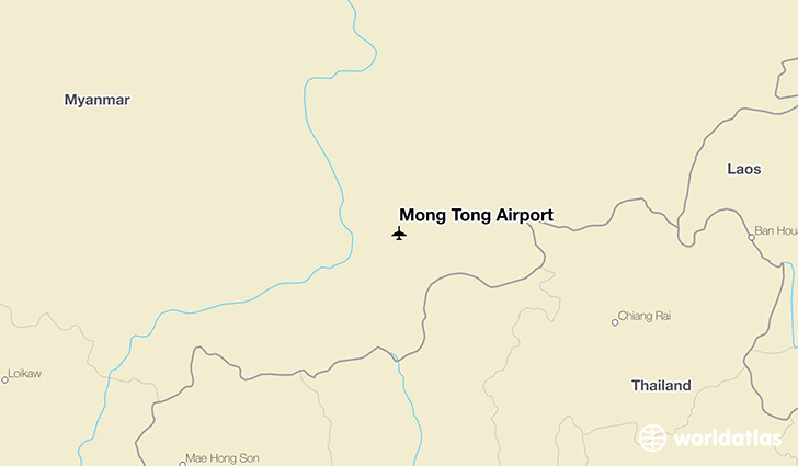 Mong Tong Airport location on a map