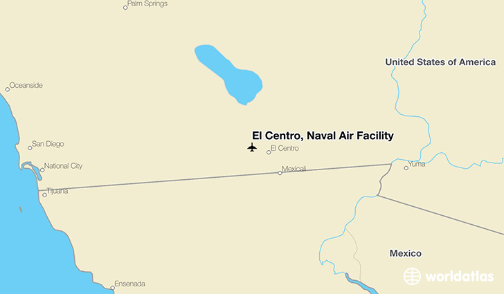 El Centro, Naval Air Facility location on a map