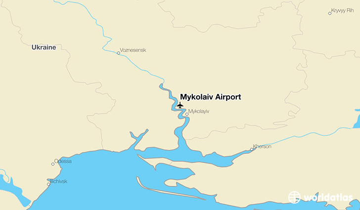 Mykolaiv Airport location on a map