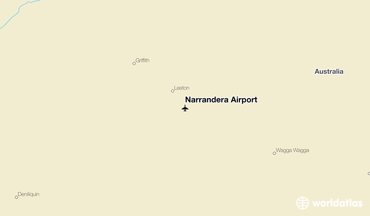 Narrandera Airport location on a map