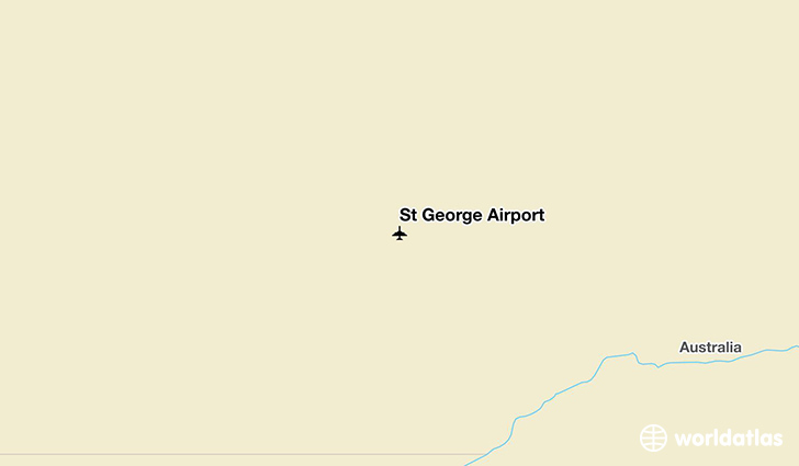 St George Airport location on a map
