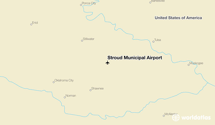 Stroud Municipal Airport location on a map