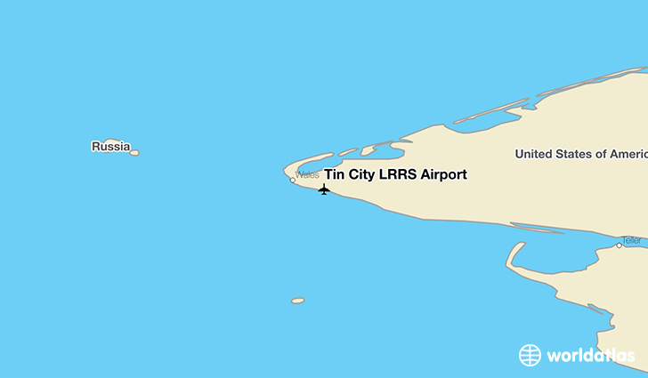 Tin City LRRS Airport location on a map