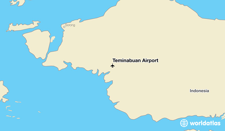 Teminabuan Airport location on a map