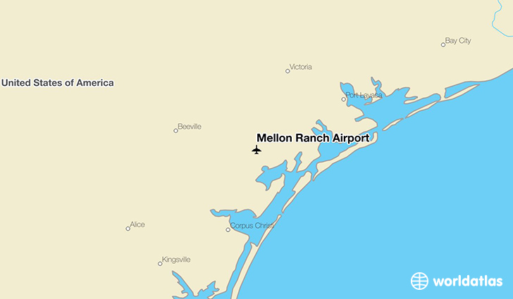 Mellon Ranch Airport location on a map