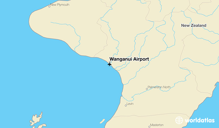 Wanganui Airport location on a map
