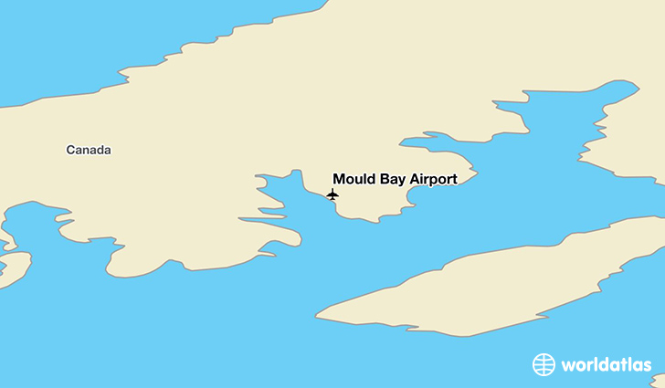 Mould Bay Airport location on a map