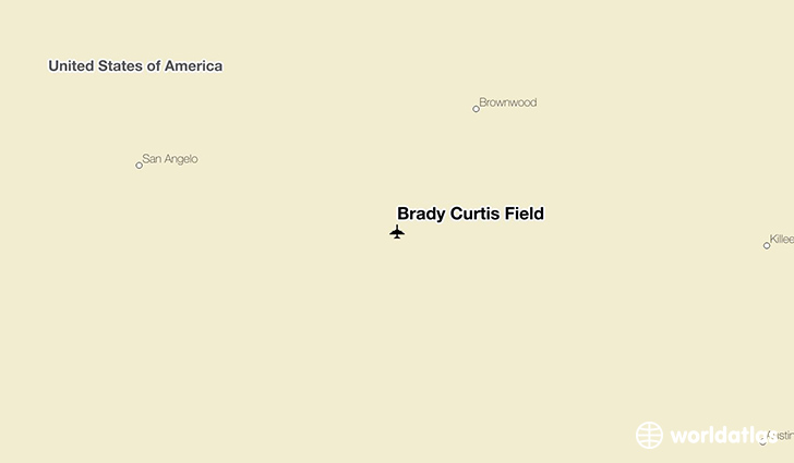 Brady Curtis Field location on a map
