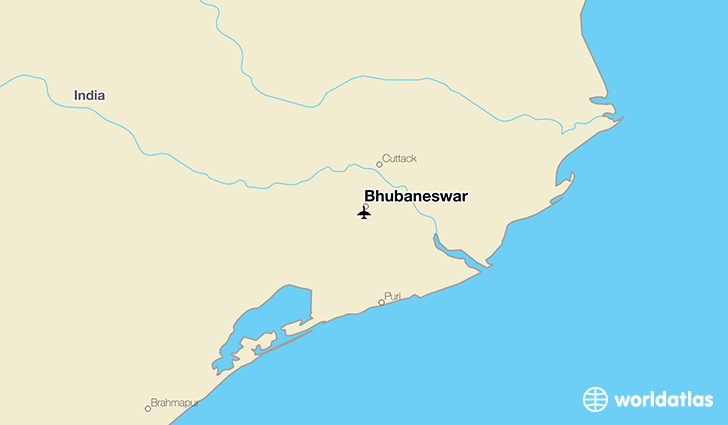 Bhubaneswar location on a map