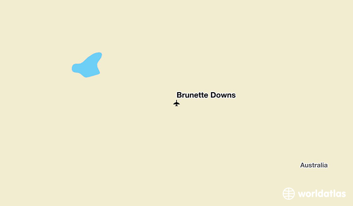 Brunette Downs location on a map