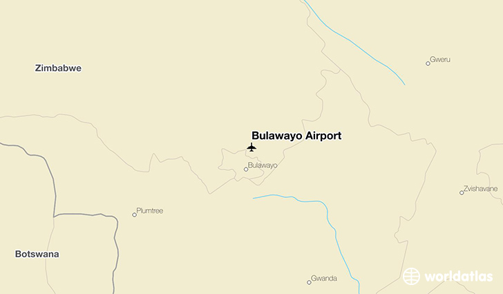 Bulawayo Airport location on a map