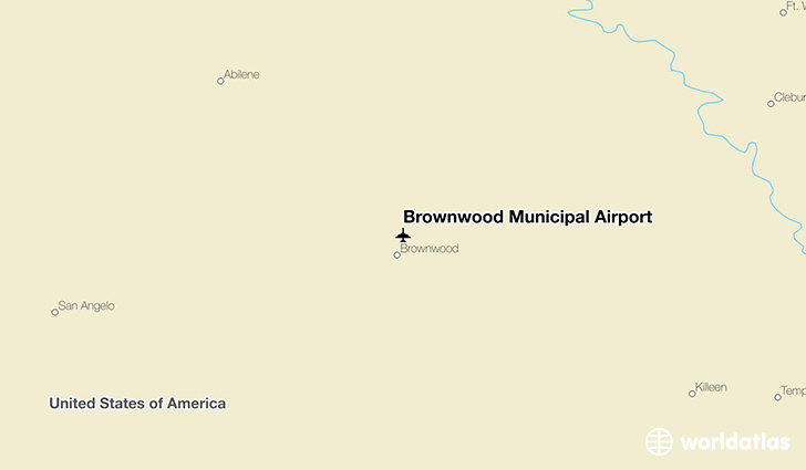 Brownwood Municipal Airport location on a map